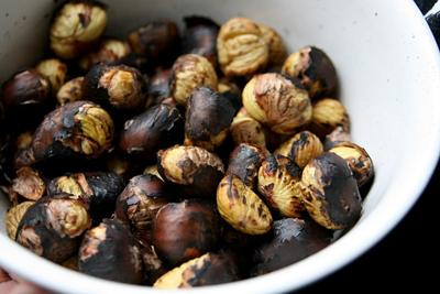 Roasted Sweet Chestnuts - tasty!