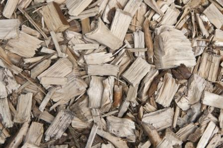 Wood chips make an excellent and cheap fuel but can only be burned effectively in large scale commercial furnaces.