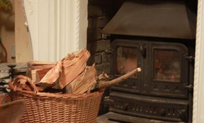 Splitting firewood smaller helps struggling fires